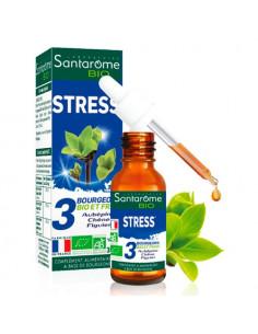 Santarome Bio Stress. 30m - Bourgeons d'aubépine de chêne et de figuier - BIO