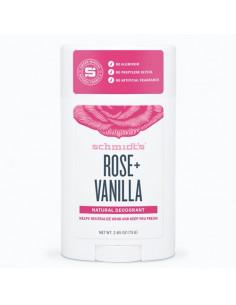 Schmidt's Rose + Vanille Déodorant Naturel. Stick 75g