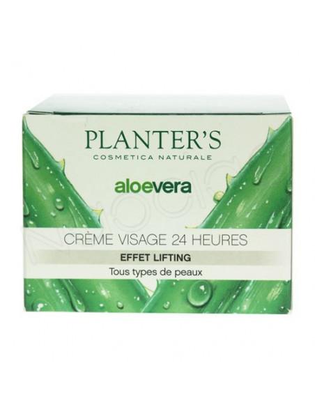 Planter's Aloe Vera Crème visage 24h Effet lifting. pot 50ml