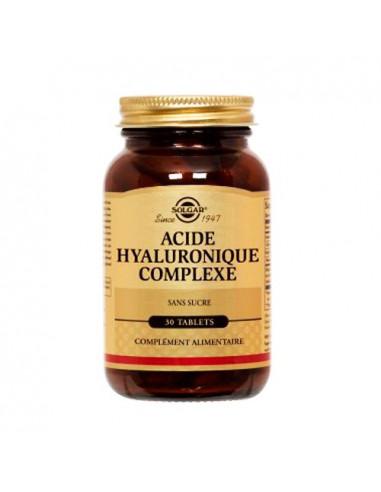 Solgar Acide Hyaluronique Complexe comprimés sans sucre. 30 tablets