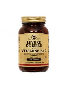 Solgar Levure de bière avec Vitamine B12 sans sucre. 250 tablets