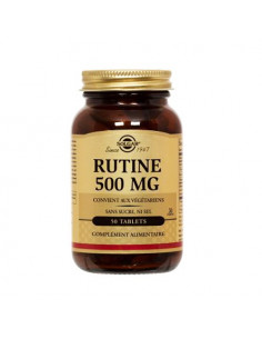 Solgar Rutine 500mg comprimés sans sucre ni sel. 50 tablets - Insuffisance veineuse