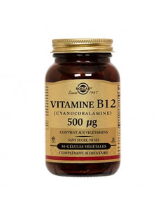 Solgar Vitamine B12 500µg. 50 gélules végétales