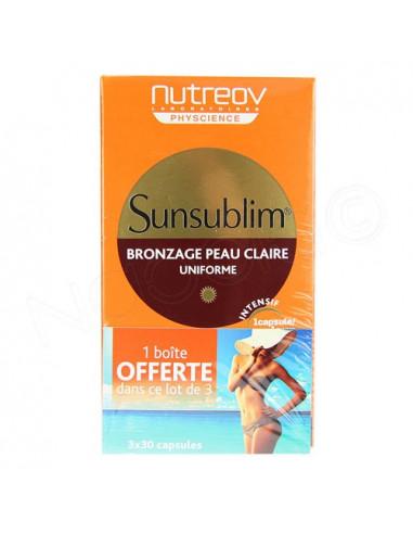 Sunsublim Bronzage Peau Claire Uniforme. Lot 3x28 capsules