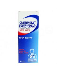 Surbronc Expectorant Sans Sucre Toux Grasse. Flacon 100ml