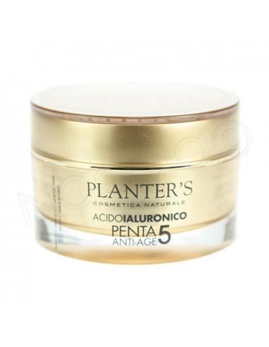 Planter's Acide Hyaluronique Penta 5 Anti-âge Crème Visage antirides. Pot 50ml