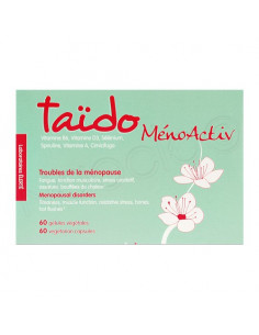 Taïdo MénoActiv. 60 gélules alternative aux Traitements Hormonaux de la Ménopause