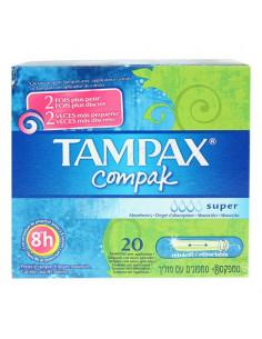 TAMPAX Tampon périodique compak super. Boîte de 20 tampons - ACL 4677202
