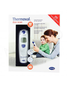 Thermoval Duo Scan Thermomètre Auriculaire et Frontal