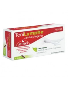 ToniLymphe Jambes Légères 4 Actions. 60 gélules