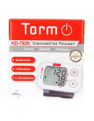 Torm Tensiomètre Poignet KD-7920