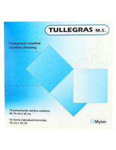 TulleGras M.S. Pansement Vaseliné Stérile 10cm x 10cm. 10 pansements