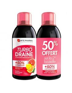 offre Forté Pharma Turbo Draine Goût Agrumes. Lot 2x500ml