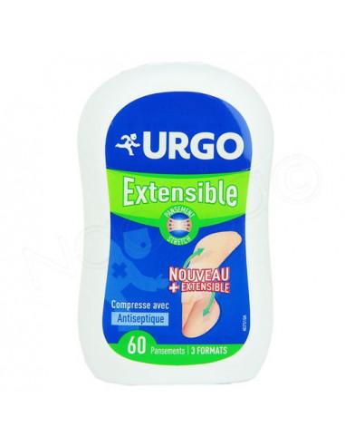 Urgo Extensible Pansements confort. Boite de 60 pansements et 3 formats