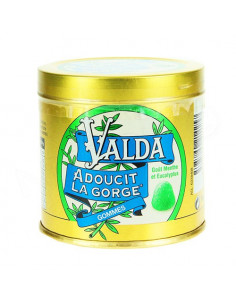 Valda gommes à mâcher goût menthe eucalyptus. Pot 160g