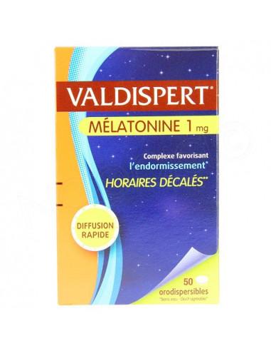 Valdispert Mélatonine 1mg Horaires décalés 50 comprimés orodispersibles