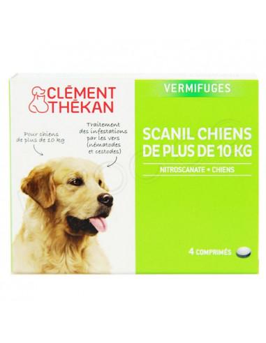 Scanil Vermifuges Chiens +10kg. 4 comprimés