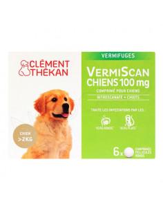 VermiScan Chiens 100 mg Vermifuge +2KG. 6 comprimés - chiots et chiens adultes +2kg