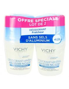 Vichy Déodorant Minéral 48h Roll-on. Lot 2x50ml
