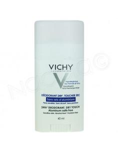 Vichy Déodorant 24h Toucher Sec Sans sels d'Aluminium. Stick 40ml