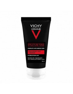 Vichy Homme Structure Force Soin anti-âge Complet Hydratation 24h. 50ml