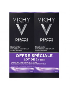Vichy Dercos Neogenic Shampooing Redensifiant. Lot 2x200ml