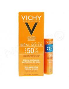 Vichy Idéal Soleil SPF50+ Crème Onctueuse 50ml + Stick Lèvres SPF30 OFFERT