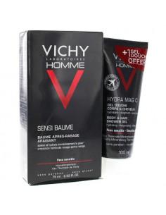 Vichy Homme Sensi Baume Après-Rasage Apaisant 75ml + Hydra Mag C Gel Douche 100ml Offert -
