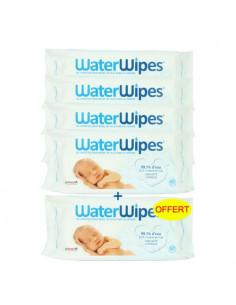 Waterwipes Lingettes bébés les plus pures au monde. 5x60 lingettes dont 60 offertes