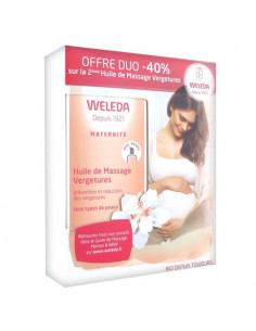 Weleda Maternité Huile de Massage Vergetures. Duo 2x100ml