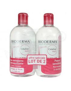 Offre Spéciale Créaline H2O Solution Micellaire Nettoyante Démaquillante - Peaux sensibles - Lot de