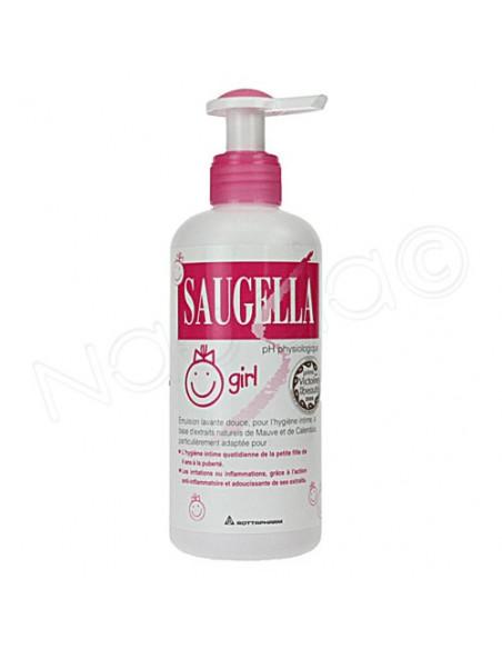 SAUGELLA GIRL Emulsion lavante hygiène intime. Flacon pompe de 200ml