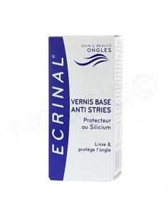 Ecrinal Vernis à ongles base anti stries au Silicium. Flacon de 10ml