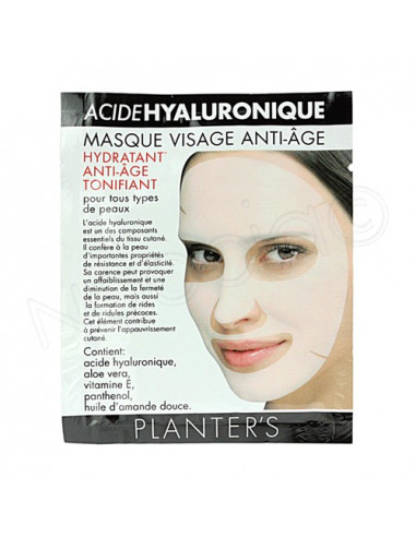 Planter's Acide Hyaluronique Masque anti-âge visage. Sachet monodose de 19g - ACL 9519092