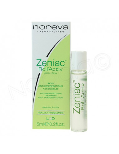 Noreva Zeniac Roll'Activ Soin anti-imperfections action ciblée. Roll-on 5ml