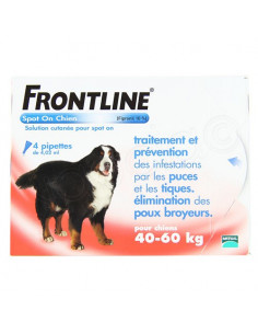 Frontline Antiparasitaire Spot on Chiens et Chats. Pipettes Chiens 40-60kg