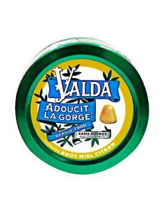 Valda Gommes à Mâcher Sans Sucres Goût Miel Citron 50g