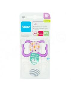 MAM Air Sucette Silicone 18met. x2 violet