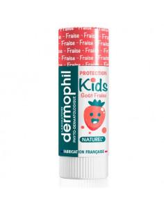 Dermophil Kids Stick à lèvres protection. 4g Fraise