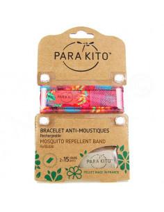 Para'Kito Bracelet Anti-moustiques rechargeable Nouvelle Formule et 2 plaquettes Jungle rose