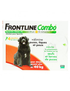 Frontline Combo Antiparasitaire Double Protection Chiens et40g 4 pipettes de 4.02ml