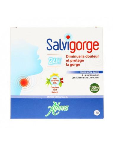 Aboca Salvigorge 2Act. 20 comrpimés à sucer