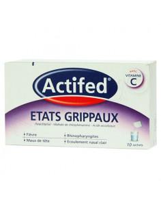 Actifed Etats Grippaux Vitamine C 10 sachets