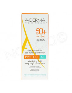 Aderma fluide matifiant très haute protection Protect AC SPF 50+