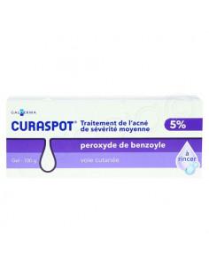 Curaspot 5% Traitement de L'acné de Sévérité Moyenne. gel à rincer 100g