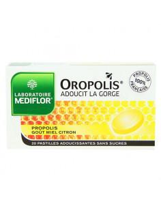 Oropolis Pastilles adoucissantes pour la gorge. Goût Miel Citron 20 pastilles
