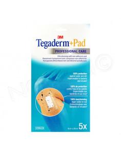3M Tegaderm+Pad Pansement transparent avec compresse. x5 9 x 20 cm