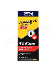 Apaisyl Anti-Poux Xpert 100% Radical Poux & Lentes Lotion traitante Flacon 200ml